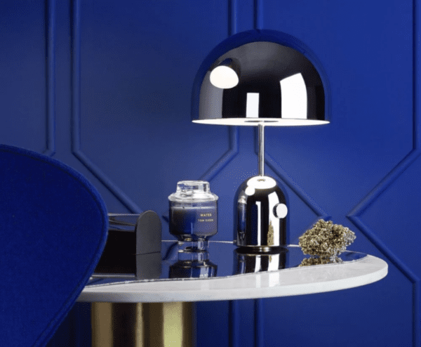 Tom Dixon_bell_table_with_elements_and_tube_blue_bord.ch