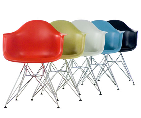 Eames Plastic Armchair DAR 2